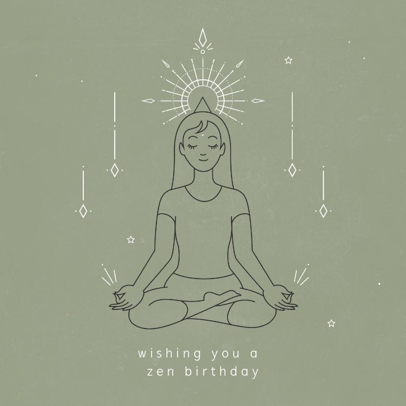 Verjaardagskaarten - Zen verjaardagskaart