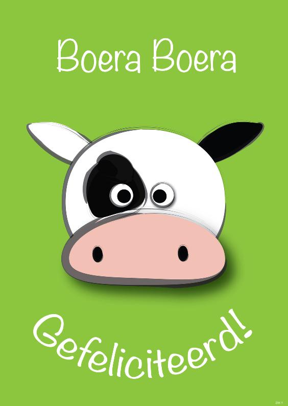 Verjaardagskaarten - zoe-t koe boera boera