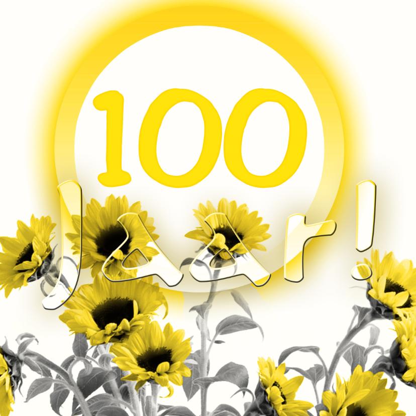 Verjaardagskaarten - zonnebloemen hoeveel jaar