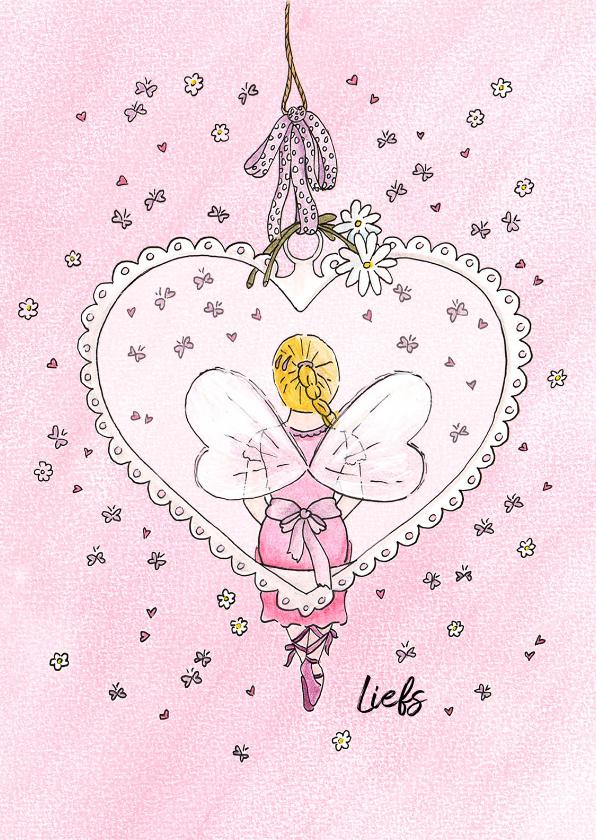 Vriendschap kaarten - Elfje in hart