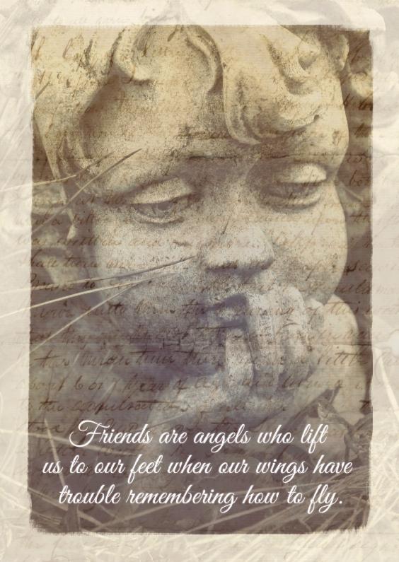 Vriendschap kaarten - Friends are angels - BK