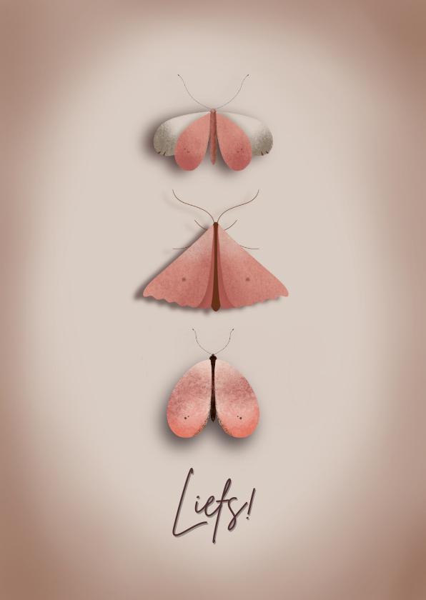 Vriendschap kaarten - Stijlvol vlinder kaartje voor elke gelegenheid
