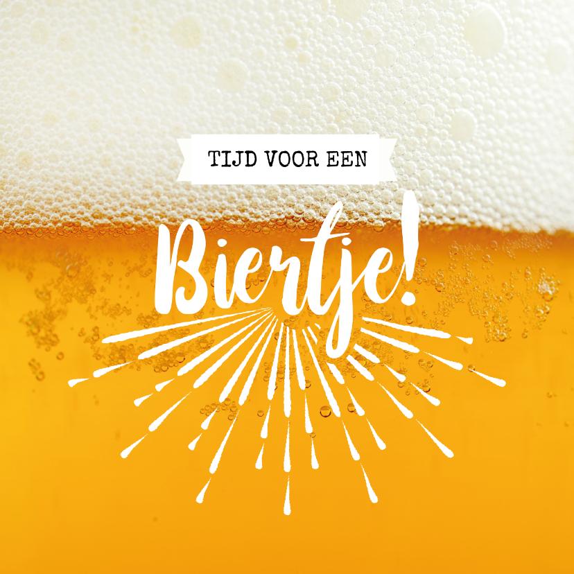 Vriendschap kaarten - Tijd voor een biertje! - vriendschapkaart