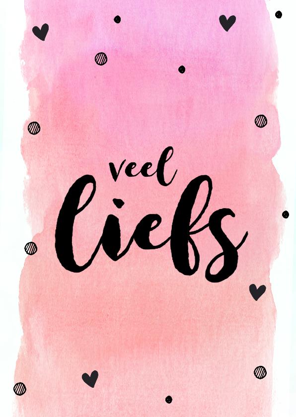 Vriendschap kaarten - Veel liefs roze