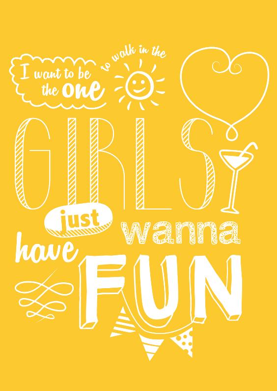 Vriendschap kaarten - Vriendinnenkaart Girls Fun
