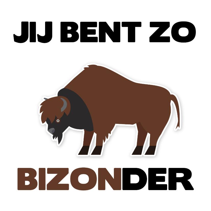 Vriendschap kaarten - Vriendschap Jij bent bijzonder met een bizon erbij