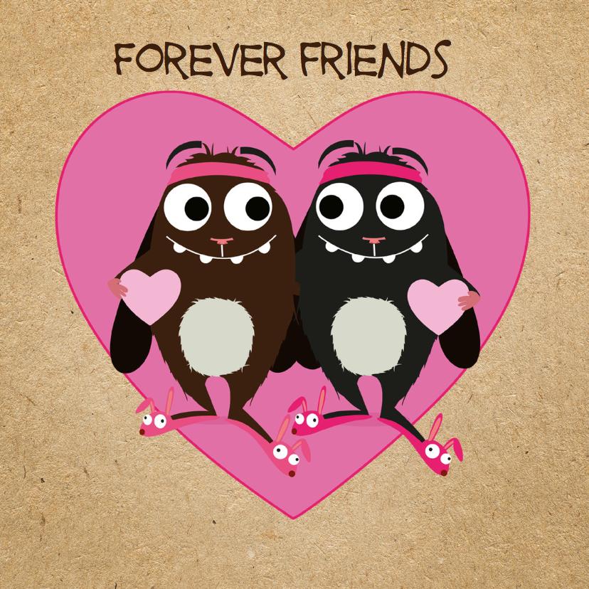 Vriendschap kaarten - Vriendschap Veerie Forever