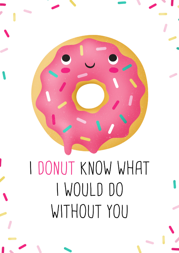 Vriendschap kaarten - Vriendschapskaart donut grappig lief