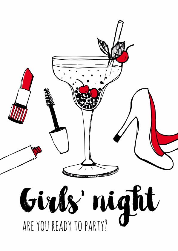 Vriendschap kaarten - Vriendschapskaart Girls Night