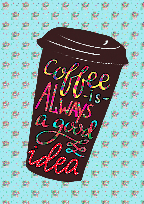 Vriendschap kaarten - Vriendschapskaart koffie PA