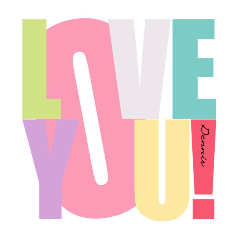 Vriendschap kaarten - Woorden Love you! - BK