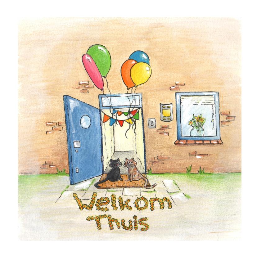 Welkom thuis kaarten - Welkom Thuis met ballonnen