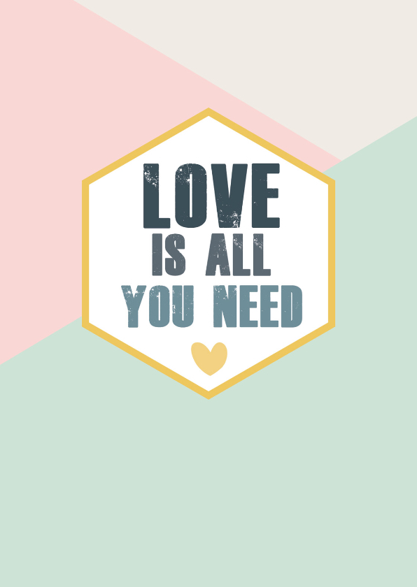 Woonkaarten - Love is all you need