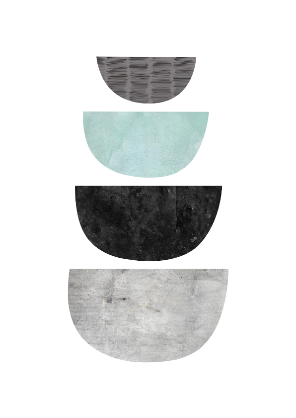 Woonkaarten - Woonkaart abstract geometrisch marmeren vorm figuur
