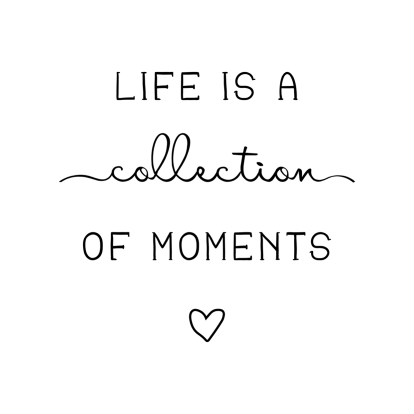 Woonkaarten - Woonkaart 'Life is a collection of moments' met hartje