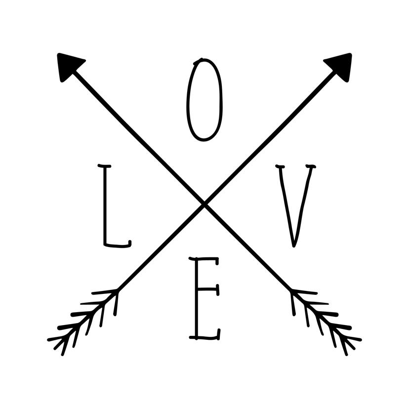 Woonkaarten - Woonkaart 'LOVE' met pijlen