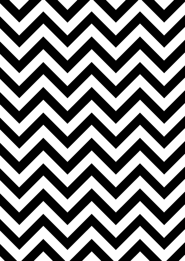 Woonkaarten - Woonkaart met inkleurbaar zigzag patroon - chevron