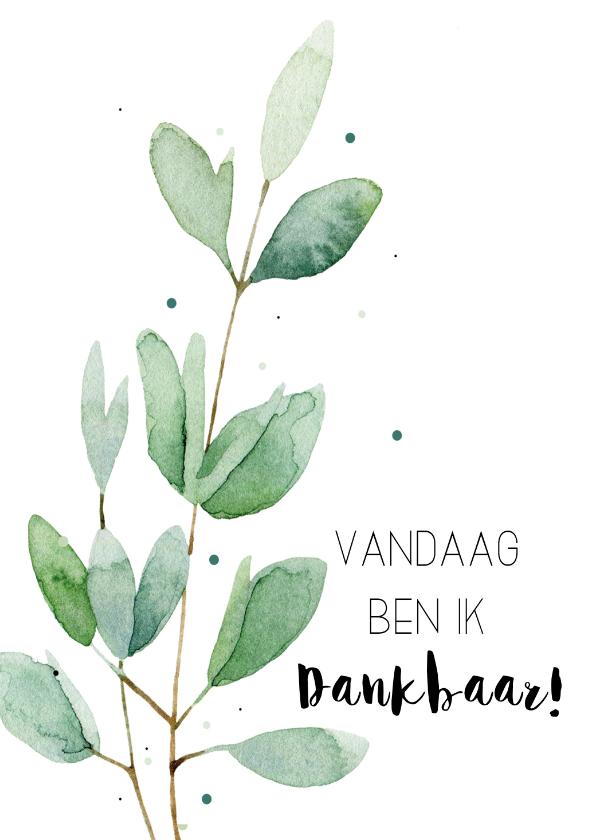 Woonkaarten - Woonkaart: Vandaag ben ik dankbaar