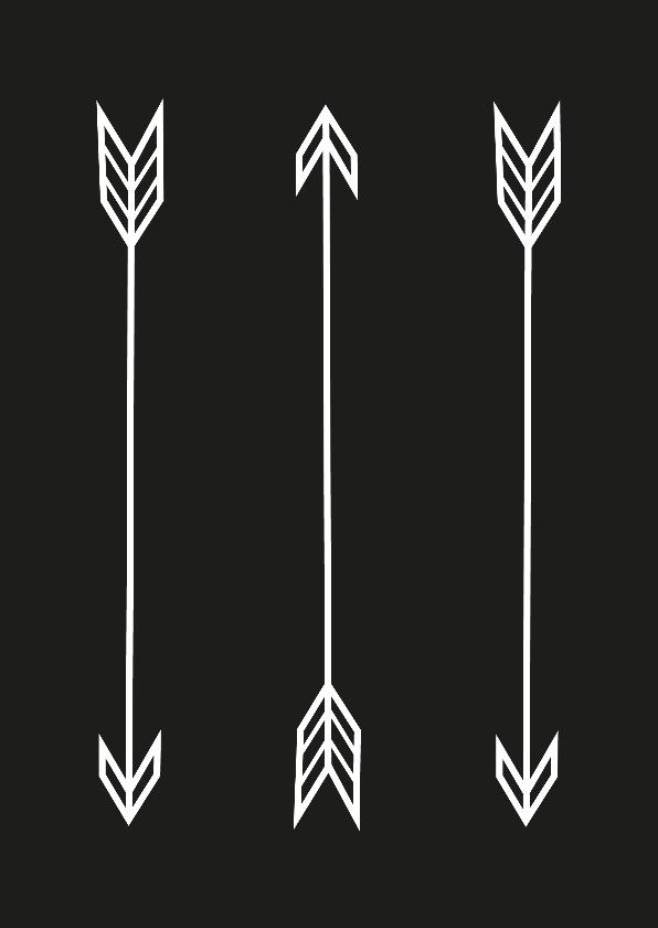 Woonkaarten - Woonkaarten Pijlen zwart wit