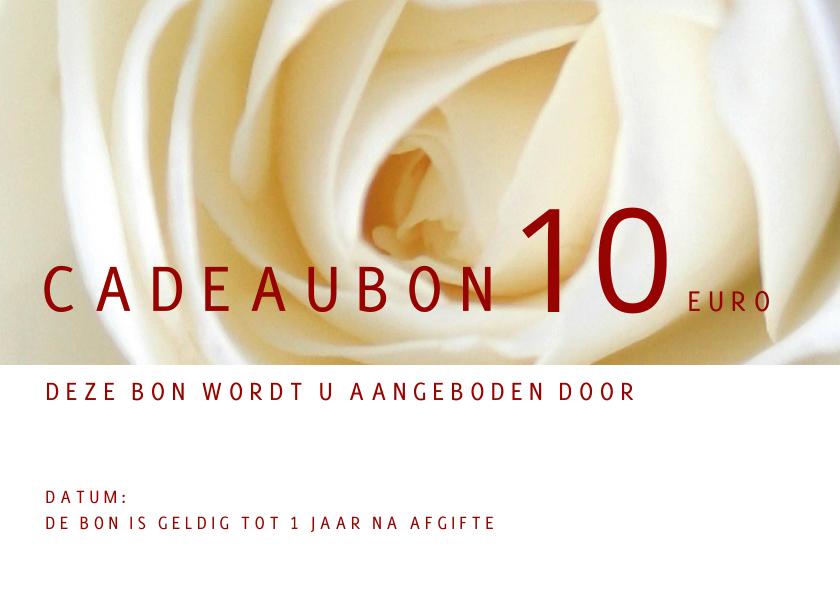 Zakelijke kaarten - Cadeaubon roos liggend