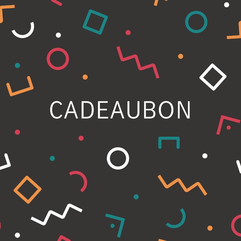 Zakelijke kaarten - Cadeaubon zakelijk zzp geometrisch patroon