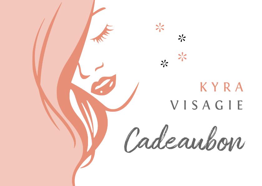 Zakelijke kaarten - Cadeaubon zakelijk zzp visagie liggend