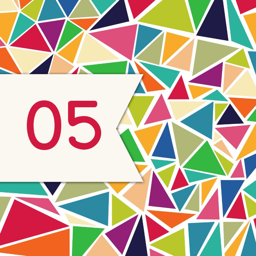 Zakelijke kaarten - Driehoek jubileum 5 jaar - DH