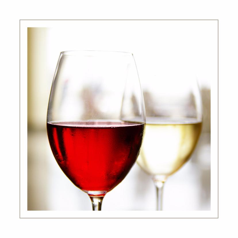 Zakelijke kaarten - Opening uitnodiging rode en witte wijn