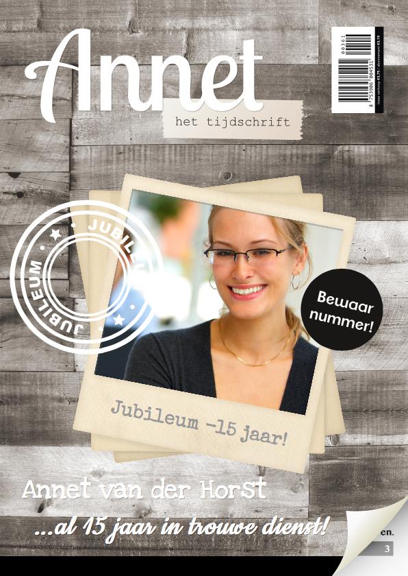 Zakelijke kaarten - Tijdschrift Jubileum Medewerker