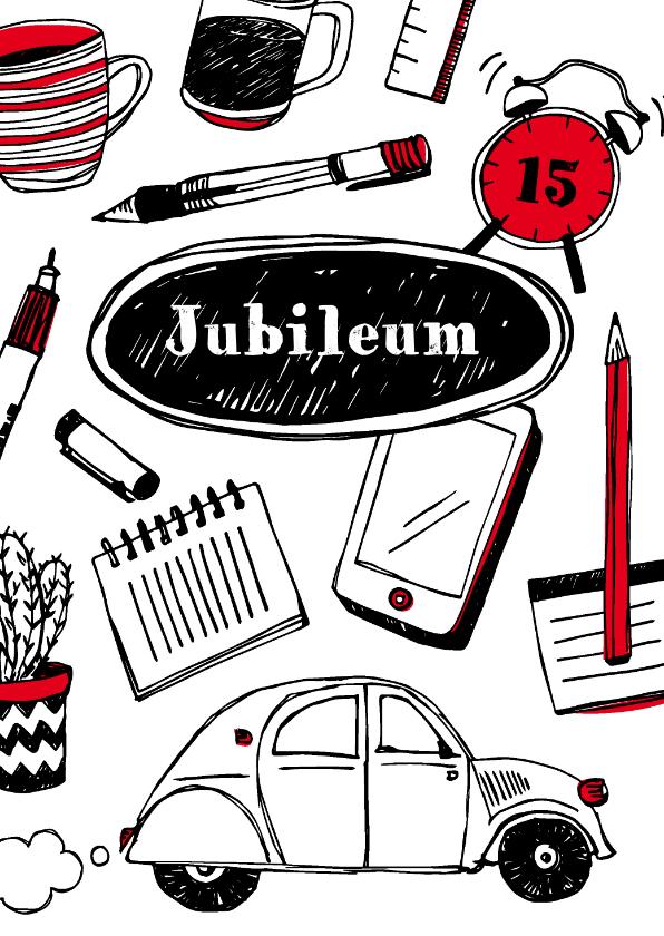 Zakelijke kaarten - Werkjubileum felicitatie of uitnodiging