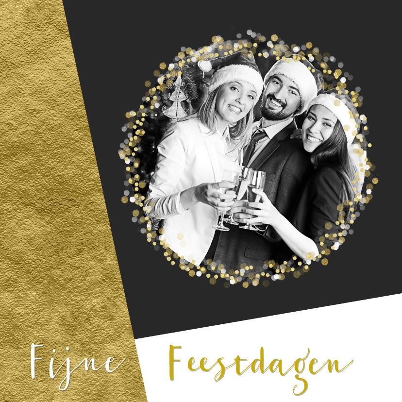 Zakelijke kerstkaarten - Grafische kerstkaart aanpasbare achtergrondkleur met goud