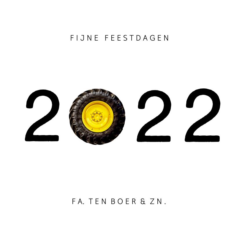Zakelijke kerstkaarten - Grappige zakelijke kerstkaart agrarische sector tractor 2022