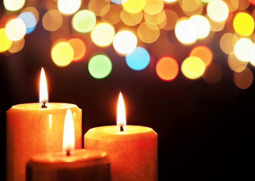 Zakelijke kerstkaarten - Kaart met kaarsen - sfeervol