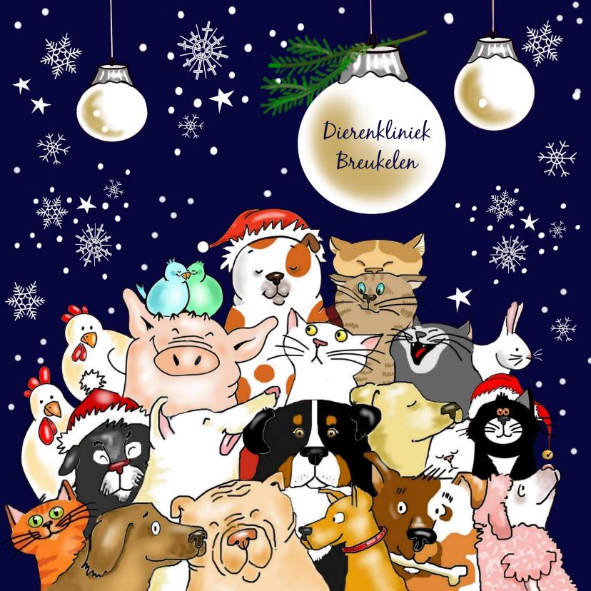 Zakelijke kerstkaarten - Kerst - groep dieren