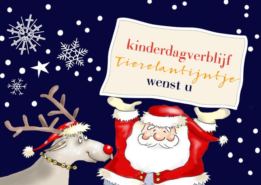 Zakelijke kerstkaarten - Kerst - kerstman en rendier zakelijk