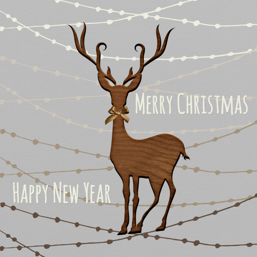 Zakelijke kerstkaarten - Kerst Rendier Slingers - TJ