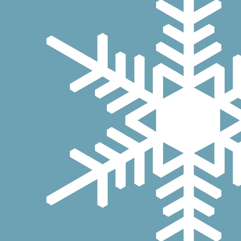Zakelijke kerstkaarten - Kerstkaart blauw strak ijskristal