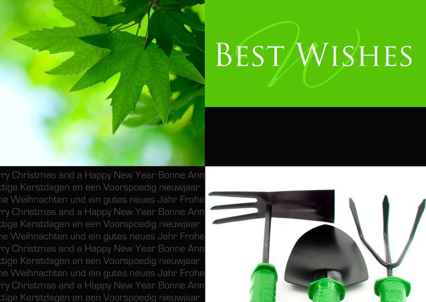 Zakelijke kerstkaarten - Kerstkaart Best Wishes groenvoorziening