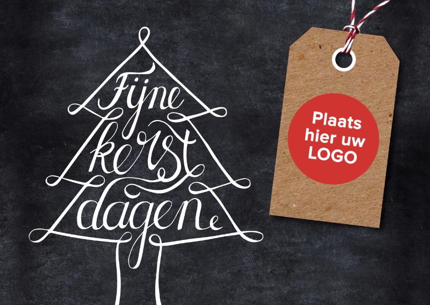 Zakelijke kerstkaarten - Kerstkaart krijtbord boom label
