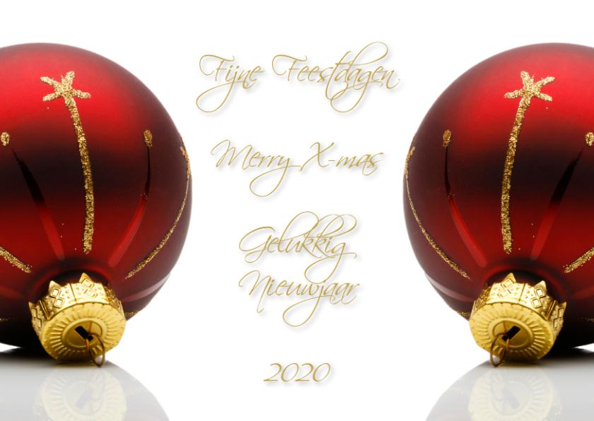 Zakelijke kerstkaarten - Kerstkaart Rood Goud 2019 binnen eigen foto