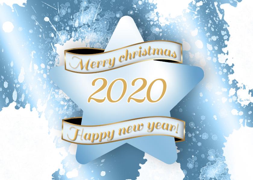 Zakelijke kerstkaarten - Kerstkaart ster ijs 2020 RB