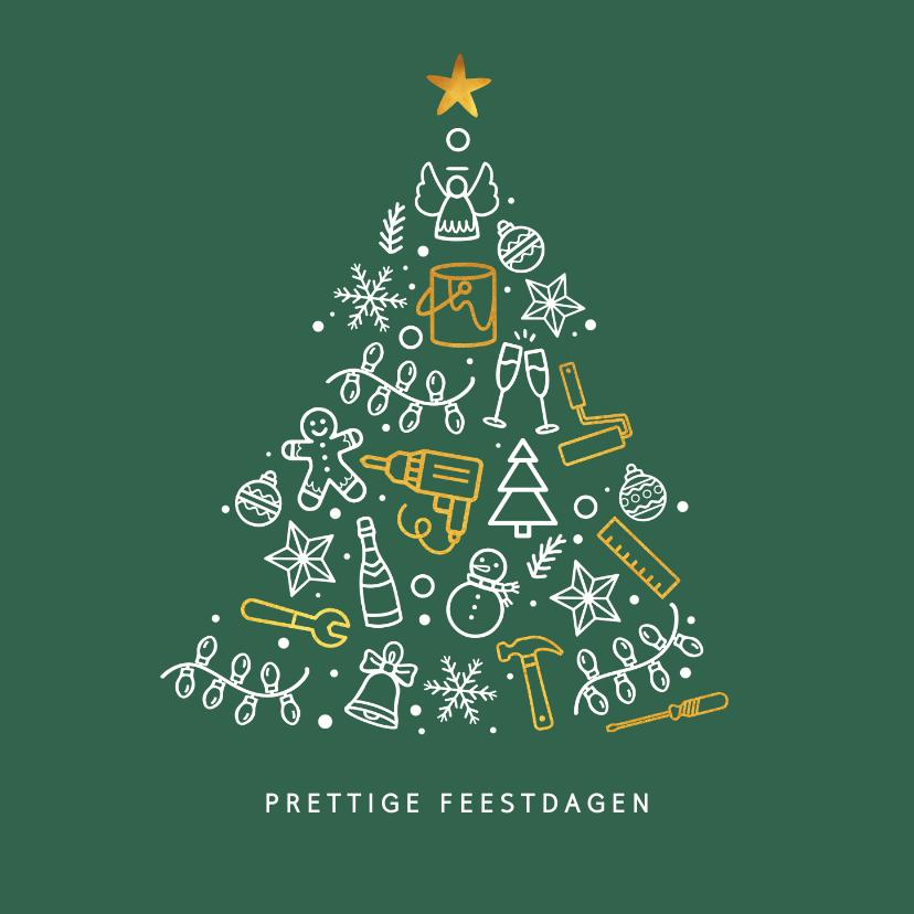 Zakelijke kerstkaarten - Kerstkaart stijlvol voor klussenbedrijf