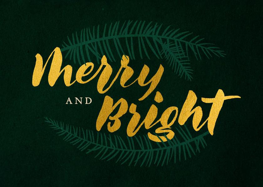 Zakelijke kerstkaarten - Kerstkaart zakelijk 'Merry and bright'