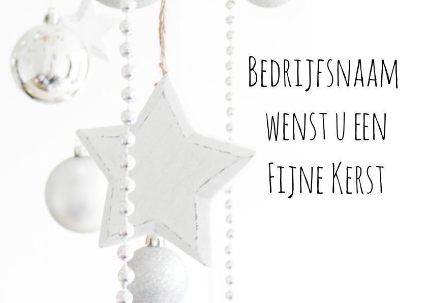 Zakelijke kerstkaarten - Kerstkaart zilver en wit