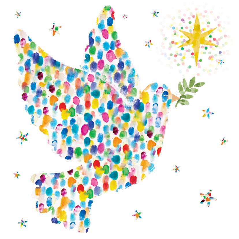 Zakelijke kerstkaarten - Mooie zakelijke kerstkaart met vredesduif