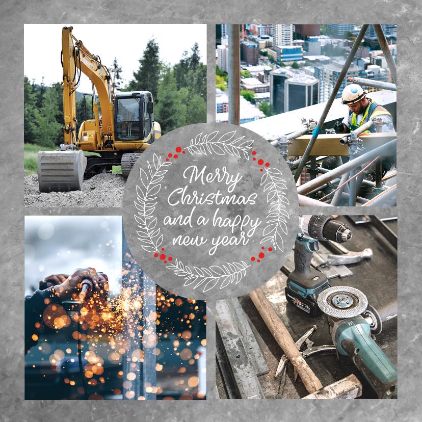 Zakelijke kerstkaarten - Stijlvolle, moderne zakelijke kerstkaart met eigen foto's