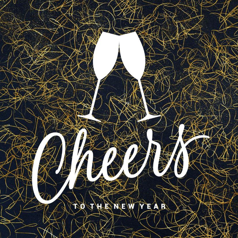 Zakelijke kerstkaarten - Stijlvolle zakelijke kerstkaart Cheers