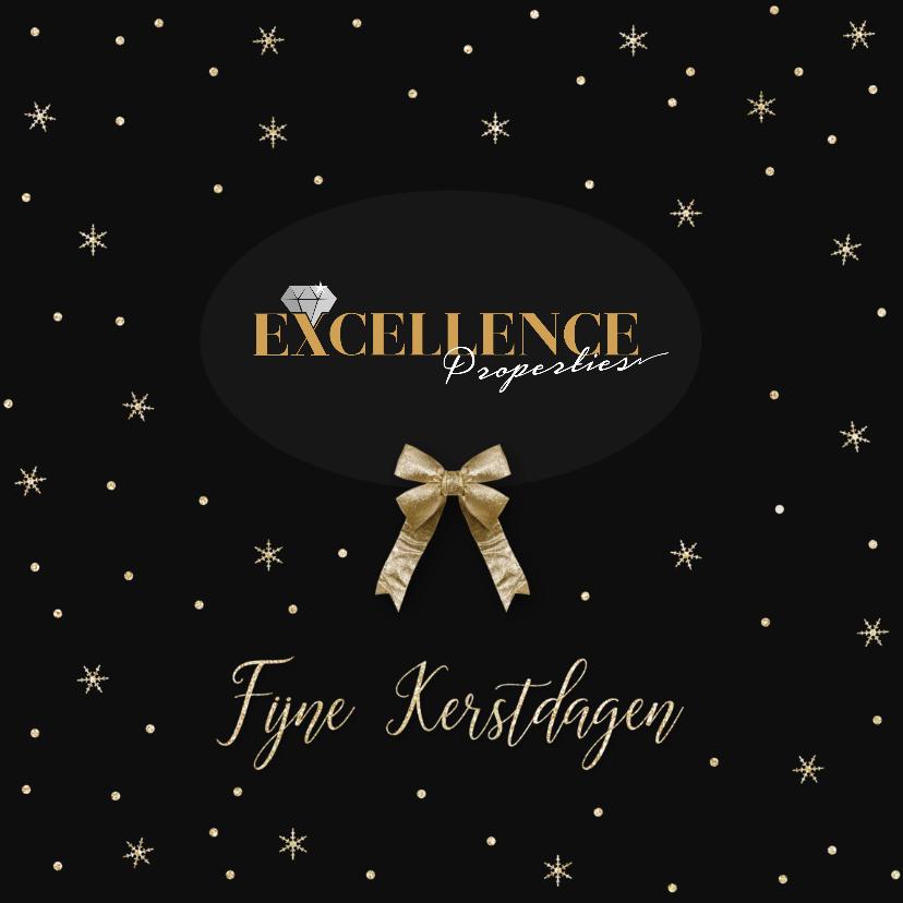 Zakelijke kerstkaarten - Stijlvolle zakelijke kerstkaart met logo