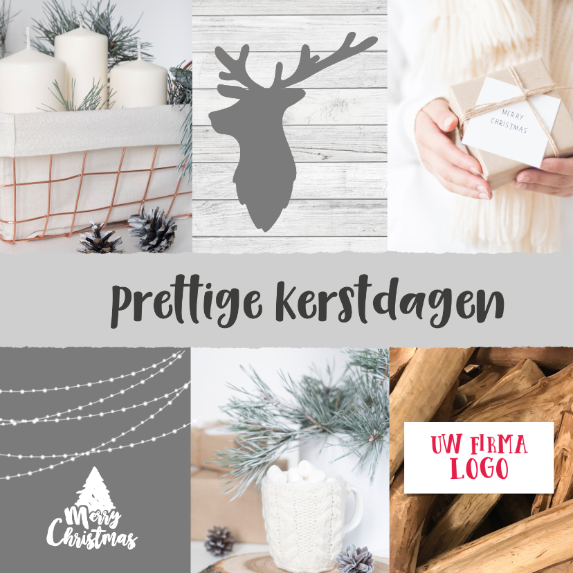 Zakelijke kerstkaarten - warme winterse kerstkaart