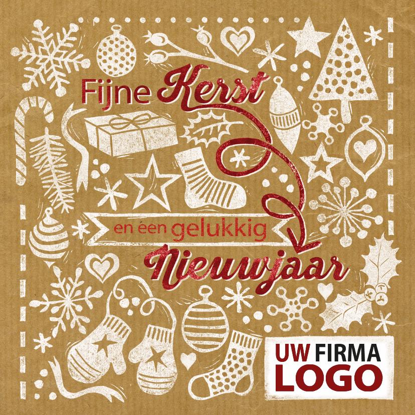 Zakelijke kerstkaarten - YVON stempels kerst logo